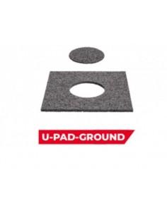Protection caoutchouc U-PAD-GROUND 20/20/3 Ép 3 mm avec trou pour ailette   Protection caoutchouc U-PAD-GROUND 20/20/3 Ép 3 mm a